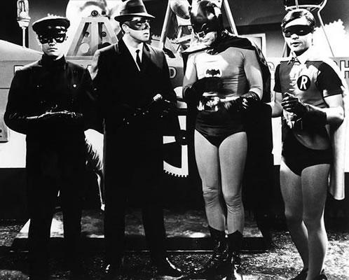 Una imagen para la posteridad: Kato, Green Hornet y el Dúo Dinámico Batman y Robin!